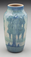 Ceramics & Porcelain, Newcomb College Matte Glazed Ceramic Cypress Tree Vase by Anna Frances Simpson. Circa 1915. Incised AFS, NC, 19...