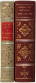 Books:Fine Bindings & Library Sets, [Fine Binding & Library Sets]. [Abraham Lincoln, subject]. Pair of Titles Related to Lincoln. Franklin Center: The Franklin ... (Total: 2 Items)