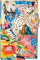 Frank Stella (American, b. 1936) The Candles (Stapling Down and Cutting Up VII), 1992 Collage, lithograph and screenpr...