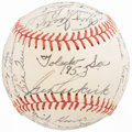 Autographs:Baseballs, 1953 Toledo Sox Team Signed Baseball. ...