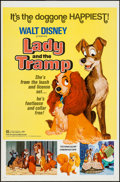 """Movie Posters:Animation, Lady and the Tramp (Buena Vista, R-1972). One Sheet (27"""" X 41"""")Flat Folded. Animation.. ..."""