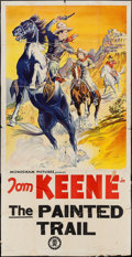 "Movie Posters:Western, The Painted Trail (Monogram, 1938). Three Sheet (41"" X 79.250""). Western.. ..."