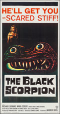"Movie Posters:Science Fiction, The Black Scorpion (Warner Brothers, 1957). Three Sheet (41"" X78.5""). Science Fiction.. ..."