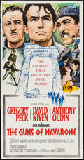 "Movie Posters:War, The Guns of Navarone (Columbia, 1961). Three Sheet (41"" X 79"").War.. ..."