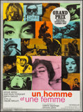 "Movie Posters:Foreign, A Man and a Woman (United Artists, 1966). French Affiches (2)(22.5"" X 30.5"") Multicolored & Orange Styles. Foreign.. ...(Total: 2 Items)"