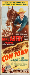 "Movie Posters:Western, Cow Town (Columbia, 1950). Insert (14"" X 36""). Western.. ..."