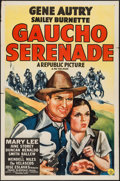 "Movie Posters:Western, Gaucho Serenade (Republic, R-1940s). One Sheet (27"" X 41"").Western.. ..."