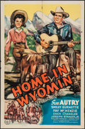 "Movie Posters:Western, Home in Wyomin' (Republic, 1942). One Sheet (27"" X 41""). Western.. ..."