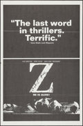 "Movie Posters:Foreign, Z (Cinema 5, 1969). One Sheet (27"" X 41""). Foreign.. ..."