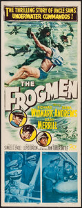"Movie Posters:War, The Frogmen (20th Century Fox, 1951). Insert (14"" X 36""). War.. ..."