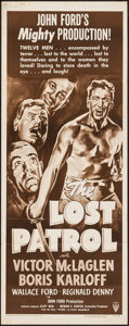 "Movie Posters:War, The Lost Patrol (RKO, R-1949). Insert (14"" X 36""). War.. ..."