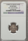 Mexico, Mexico: Charles III 1/2 Real 1768 Mo-M XF Details (ReverseScratches) NGC,...