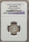 Mexico, Mexico: Charles III Real 1770 Mo-M UNC Details (Surface Hairlines)NGC,...