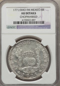 Mexico, Mexico: Charles III 8 Reales 1771/0 Mo-FM AU Details (Chopmarked)NGC,...