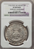 Mexico, Mexico: Philip V 8 Reales 1743/2 Mo-MF XF Details (SurfaceHairlines) NGC,...
