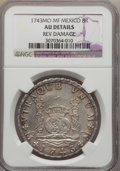 Mexico, Mexico: Philip V 8 Reales 1743 Mo-MF AU Details (Reverse Damage)NGC,...