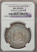 Mexico, Mexico: Charles III 8 Reales 1763/2 Mo-MM UNC Details (SurfaceHairlines) NGC,...