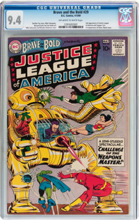 The Brave and the Bold #29 Justice League of America (DC, 1960) CGC NM 9.4 Off-white to white pages