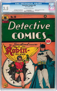 Detective Comics #38 (DC, 1940) CGC VG- 3.5 Off-white to white pages