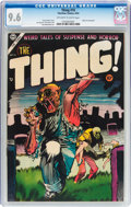 Golden Age (1938-1955):Horror, The Thing! #16 (Charlton, 1954) CGC NM+ 9.6 Off-white to whitepages....