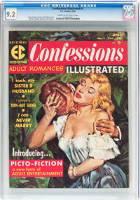 Confessions Illustrated #1 (EC, 1956) CGC NM- 9.2 Cream to off-white pages