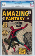 Silver Age (1956-1969):Superhero, Amazing Fantasy #15 (Marvel, 1962) CGC FN 6.0 White pages....