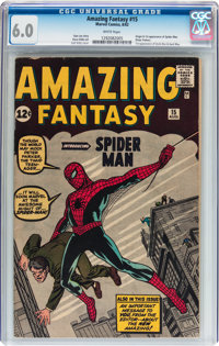 Amazing Fantasy #15 (Marvel, 1962) CGC FN 6.0 White pages