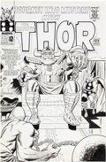 Original Comic Art:Covers, Jack Kirby and Wally Wood Journey Into Mystery #122 Odin, Thor, and Crusher Creel Cover Original Art (Marvel, 1965...