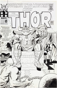 Jack Kirby and Wally Wood Journey Into Mystery #122 Odin, Thor, and Crusher Creel Cover Original Art (Marvel, 1965