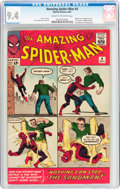 Silver Age (1956-1969):Superhero, The Amazing Spider-Man #4 (Marvel, 1963) CGC NM 9.4 Cream tooff-white pages....