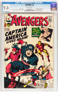 The Avengers #4 (Marvel, 1964) CGC NM+ 9.6 Off-white pages
