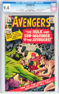 Silver Age (1956-1969):Superhero, The Avengers #3 Twin Cities pedigree (Marvel, 1964) CGC NM 9.4Off-white to white pages....