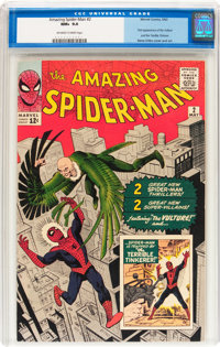 The Amazing Spider-Man #2 (Marvel, 1963) CGC NM+ 9.6 Off-white to white pages