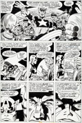 Original Comic Art:Panel Pages, Jack Kirby and Frank Giacoia Captain America #200 Page 30Original Art (Marvel, 1976)....