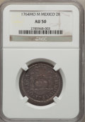 Mexico, Mexico: Charles III 2 Reales 1764 Mo-M AU50 NGC,...