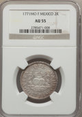 Mexico, Mexico: Charles III 2 Reales 1771 Mo-F AU55 NGC,...