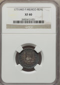 Mexico, Mexico: Charles III Real 1771 Mo-F XF40 NGC,...
