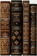 Books:Fine Bindings & Library Sets, [Fine Binding & Library Sets]. William Faulkner. Group of Four Books. The Franklin Library, [various dates].... (Total: 4 Items)