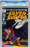Silver Age (1956-1969):Superhero, The Silver Surfer #4 (Marvel, 1969) CGC NM/MT 9.8 Off-white to white pages....
