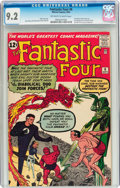 Silver Age (1956-1969):Superhero, Fantastic Four #6 (Marvel, 1962) CGC NM- 9.2 Off-white to whitepages....