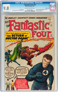 Silver Age (1956-1969):Superhero, Fantastic Four #10 Pacific Coast pedigree (Marvel, 1963) CGC NM/MT9.8 Off-white to white pages....