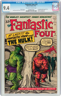 Silver Age (1956-1969):Superhero, Fantastic Four #12 (Marvel, 1963) CGC NM 9.4 Off-white to white pages....