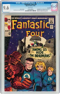 Fantastic Four #45 Twin Cities pedigree (Marvel, 1965) CGC NM+ 9.6 White pages