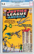 Silver Age (1956-1969):Superhero, Justice League of America #13 Don/Maggie Thompson Collection pedigree (DC, 1962) CGC NM 9.4 Off-white to white pages....