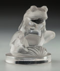 Art Glass:Lalique, R. Lalique Clear and Frosted Glass Grenouille Mascot. Circa 1928. Engraved R. Lalique, France. M p. 502, N...