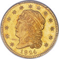 Early Quarter Eagles, 1824/1 $2 1/2 BD-1, R.5, MS64 PCGS Secure....