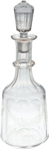 Political:Presidential Relics, Franklin D. Roosevelt: Personally-owned Crystal Decanter.... (Total: 2 Items)