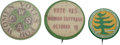 Political:Pinback Buttons (1896-present), Women's Suffrage: Three Scarcer Buttons.... (Total: 3 Items)