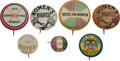 Political:Pinback Buttons (1896-present), Women's Suffrage: Seven Buttons Pro-and-Con.... (Total: 7 Items)