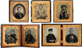 Photography:Ambrotypes, Sixth Plate Ambrotypes.... (Total: 5 Items)